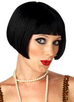 Clapet affectueux Black perruque Perruque Années 1920