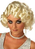 Perruque Blonde de cabaret Perruque Années 1920