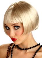 Perruque Blonde flirty Flapper Perruque Années 1920
