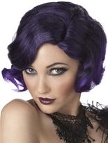 Puttin ' on le Ritz noir et violet perruque Perruque Années 1920