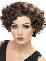 années 1920 flapper perruque brune Perruque Années 1920