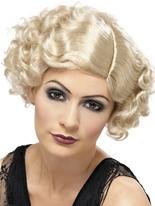 1920 ' s Flapper perruque Blonde bouclée Perruque Années 1920