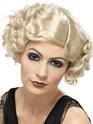 Perruque Années 1920 1920 ' s Flapper perruque Blonde bouclée
