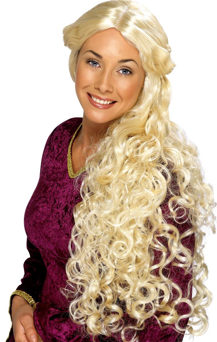 Perruque Femme Classique Guenièvre très longue perruque Blonde
