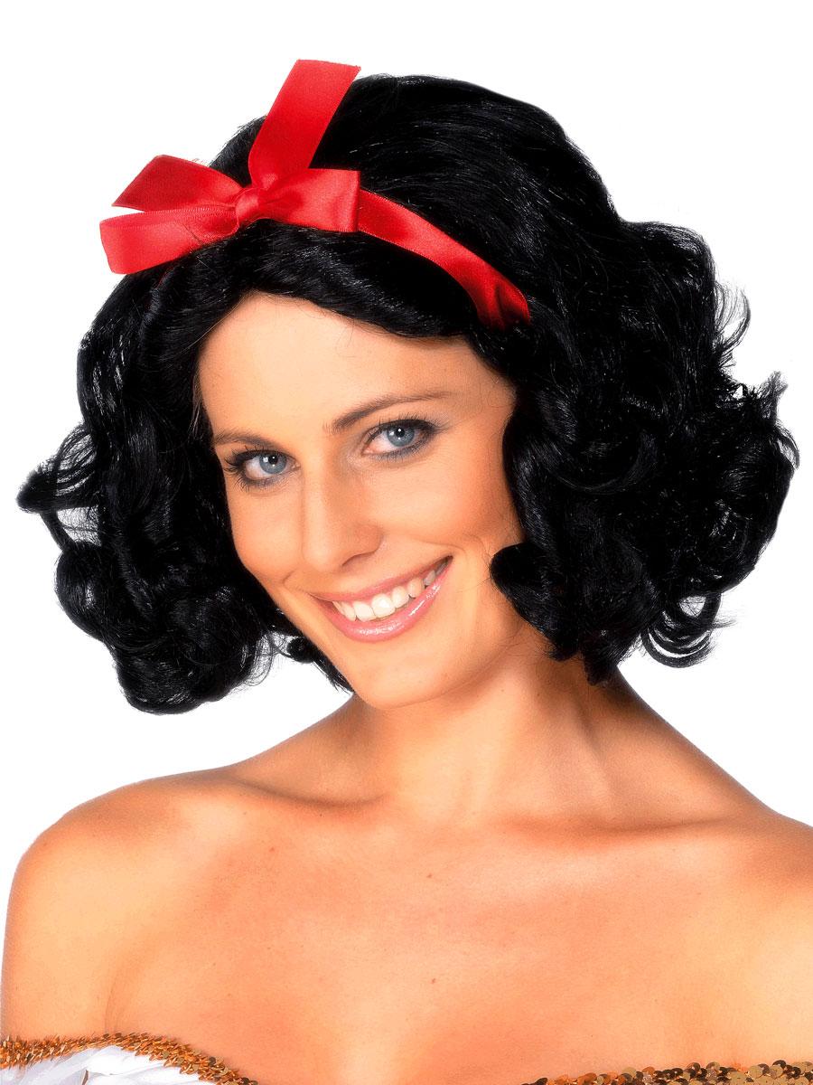Perruque Femme Classique Filles de conte de fées perruque noire