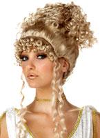 Perruque Blonde déesse athénienne Perruque Femme Classique