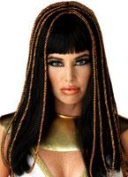Perruque noire décorative de princesse égyptienne Perruque Femme Classique