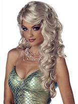 Perruque Blonde de sirène Perruque Femme Classique
