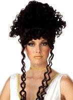 Perruque brune déesse athénienne Perruque Femme Classique