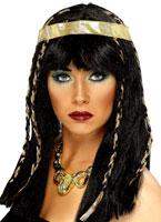 Perruque égyptienne noir Perruque Femme Classique