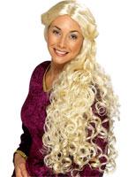 Guenièvre très longue perruque Blonde Perruque Femme Classique