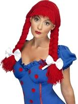 Rag Doll perruque rouge Perruque Femme Classique