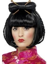 Oriental Lady Black perruque Perruque Femme Classique
