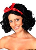 Filles de conte de fées perruque noire Perruque Femme Classique