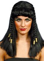 Cléopâtre perruque noir or Perruque Femme Classique