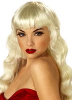 Pin Up Girl Blonde perruque Perruque Film & Série TV