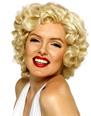 Perruque Film & Série TV Blonde perruque courte Marilyn Monroe