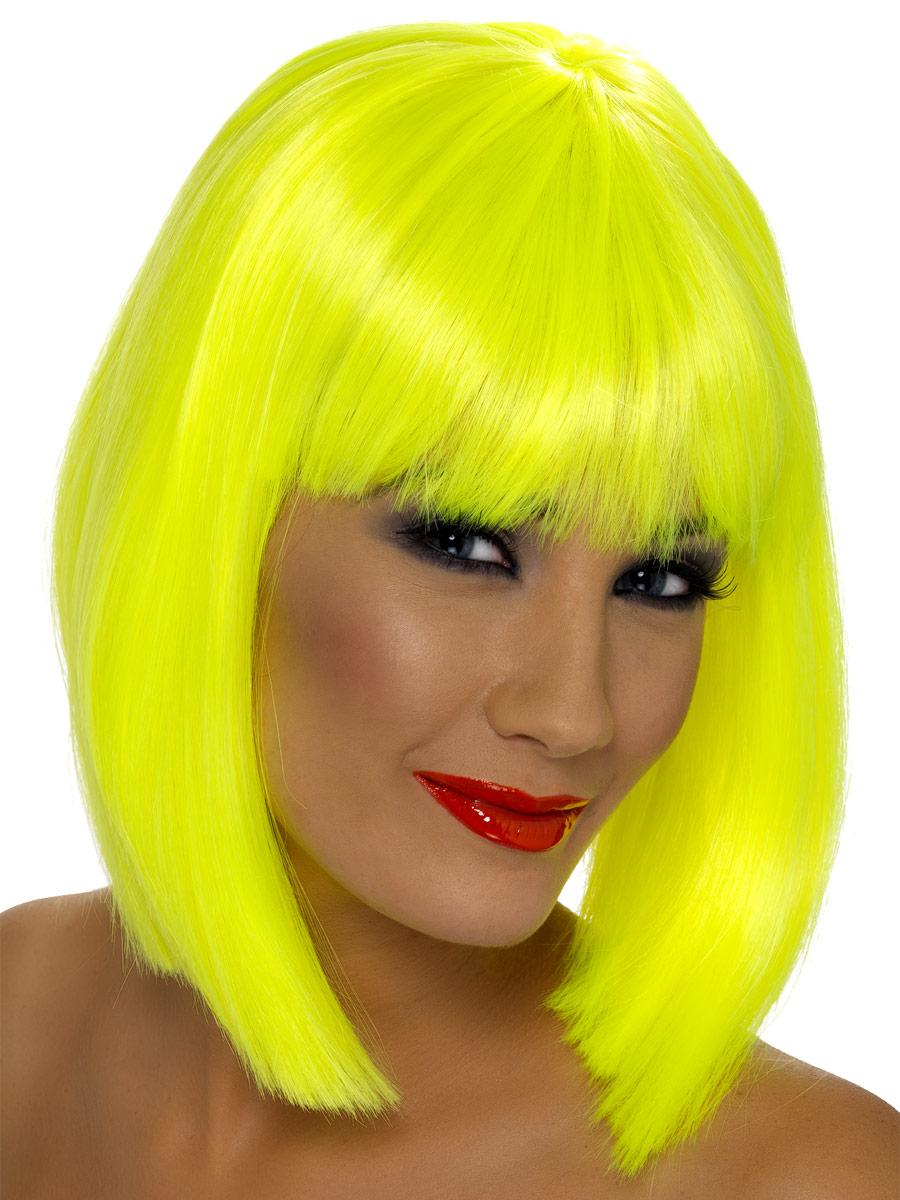 Perruque Glamour Ladies Perruque Glam jaune néon