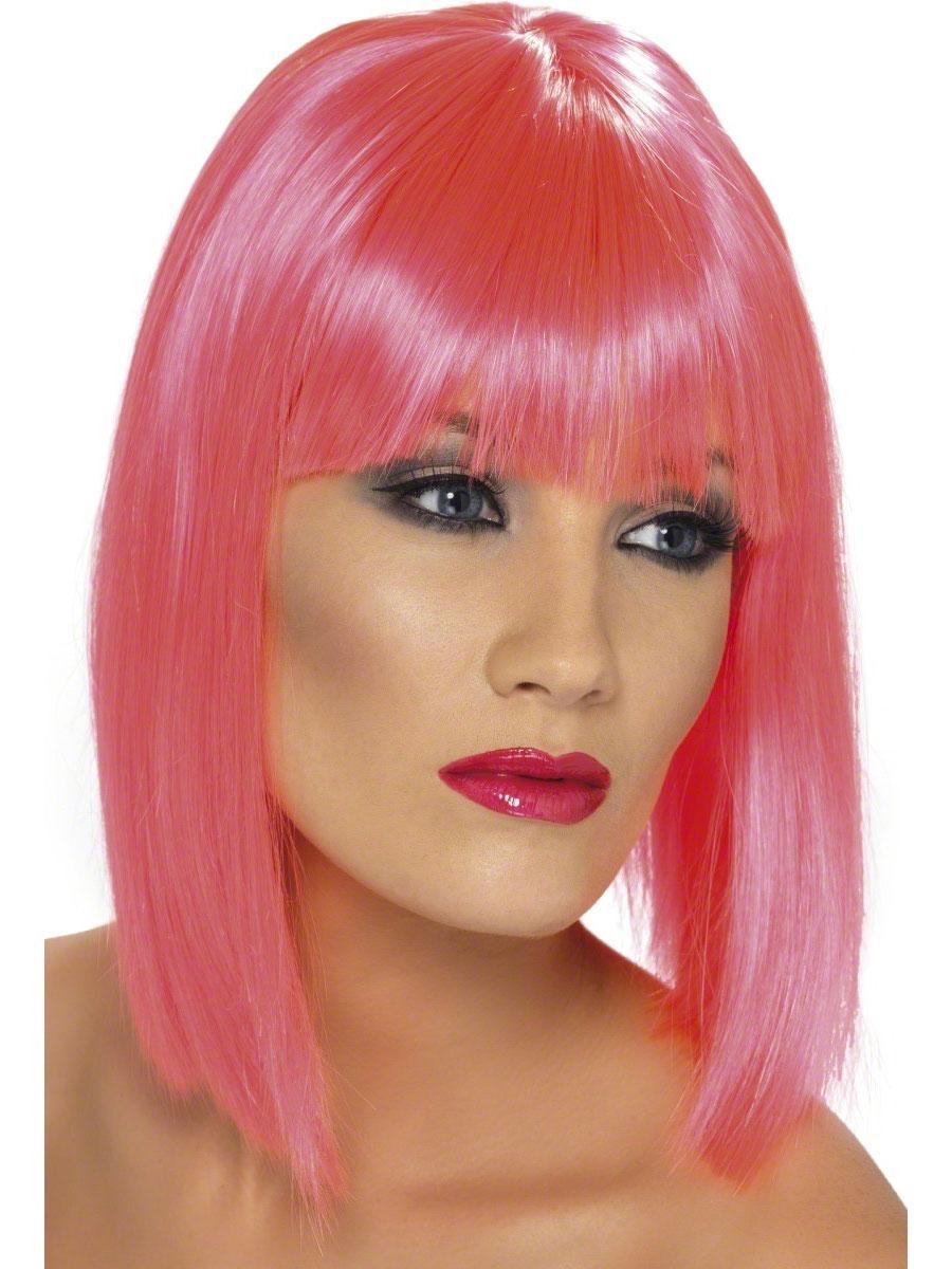 Perruque Glamour Ladies Perruque Glam rose néon