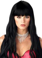 Perruque noire serpentine Perruque Glamour Ladies