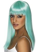 Perruque Glamourama Neon bleu Perruque Glamour Ladies