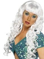 Sirène bouclés Perruque blanche Perruque Glamour Ladies