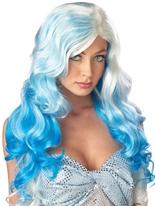 Fantaisie vagues Blonde perruque bleu Perruque Glamour Ladies