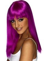 Perruque Glamourama néon violet Perruque Glamour Ladies