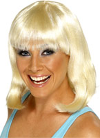 Pom-pom girl perruque Blonde Perruque Glamour Ladies