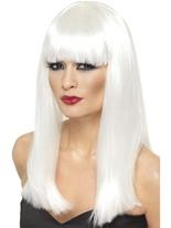 Perruque Glamourama blanc Perruque Glamour Ladies