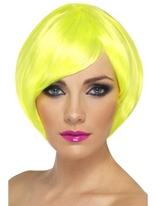 Perruque Babe jaune néon Perruque Glamour Ladies