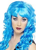 Sirène perruque bleu Perruque Glamour Ladies