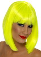 Perruque Glam jaune néon Perruque Glamour Ladies
