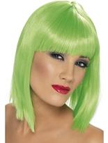 Perruque Glam vert néon Perruque Glamour Ladies