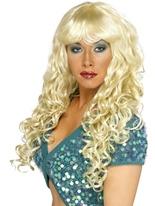 Sirène bouclés Perruque Blonde Perruque Glamour Ladies
