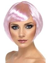 Court Bob Babe perruque rose Perruque Glamour Ladies