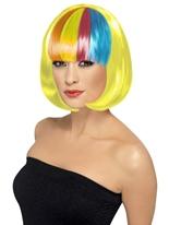 Perruque de Partyrama jaune Perruque Glamour Ladies