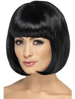 Perruque noire de Partyrama Perruque Glamour Ladies
