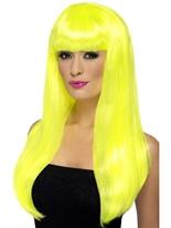 Perruque Babelicious jaune néon Perruque Glamour Ladies