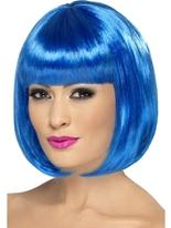 Perruque de Partyrama bleu Perruque Glamour Ladies