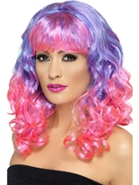 Perruque de Divatastic violet et rose Perruque Glamour Ladies