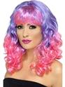 Perruque Glamour Ladies Perruque de Divatastic violet et rose