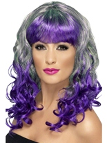 Perruque de Divatastic vert et violet Perruque Glamour Ladies