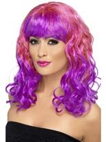 Perruque de Divatastic rose et violet Perruque Glamour Ladies