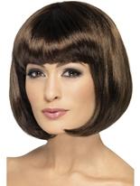 Perruque de Partyrama brun foncé Perruque Glamour Ladies