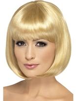 Perruque de Partyrama Blonde foncé Perruque Glamour Ladies