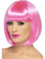 Perruque rose de Partyrama Perruque Glamour Ladies