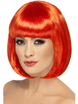 Perruque rouge de Partyrama Perruque Glamour Ladies