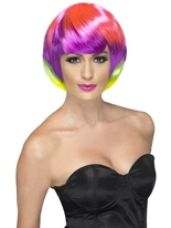 Perruque Babe Funky multicolores Perruque Glamour Ladies