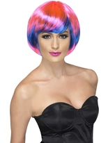 Perruque Babe Funky rose et bleu Perruque Glamour Ladies